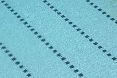 Swimming Pool. Photo of a swimming pool. Track lines are visible and diagonally placed Royalty Free Stock Images
