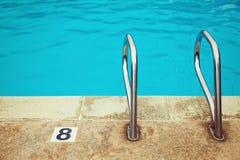 Swimming pool detail close up Royalty Free Stock Image