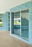 Swimming pool, detail, door Stock Photos