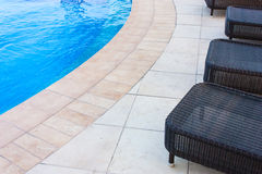Swimming pool detail stock photography