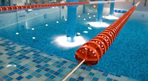 Swimming pool diagonal red lines Royalty Free Stock Photo