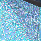 Swimming Pool Digital Illustration With Geometric Blue Tiles Royalty Free Stock Photo