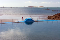 Swimming Pool in Dinard. Swimming pool on Ecluse Beach in Dinard, France Royalty Free Stock Photos