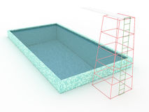 Swimming pool with diving board #2 Stock Photos