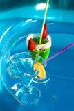 Swimming pool drinks Stock Photo