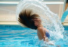 Swimming Pool, Drops Of Water Royalty Free Stock Images