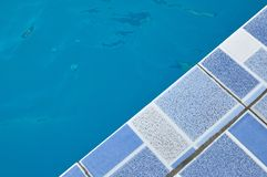 Swimming pool edge Royalty Free Stock Photo