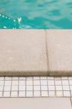 Swimming pool edge Stock Photos