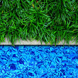 Swimming pool edge background. Stock Images