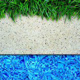 Swimming pool edge background. Stock Photography