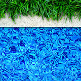 Swimming pool edge background. Royalty Free Stock Photo