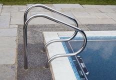 Swimming pool edge Stock Photography