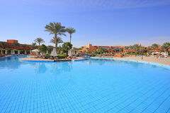 Swimming pool in Egypt Stock Photos