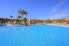 Swimming pool in Egypt resort Royalty Free Stock Photography