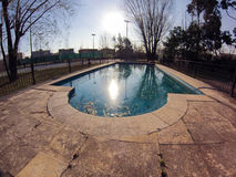 Swimming pool. An empty swimming pool in autumn Royalty Free Stock Image