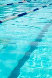 Swimming pool with empty lanes and a lot of copyspace. Stock Image