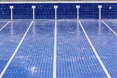 Swimming Pool Empty Maintenance Stock Photo