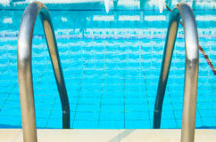 Swimming pool enter Stock Image