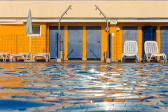Swimming pool entrance Royalty Free Stock Images