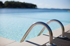 swimming pool entrance holders royalty free stock image