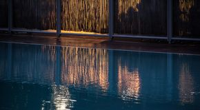 Swimming pool with fence Royalty Free Stock Photography