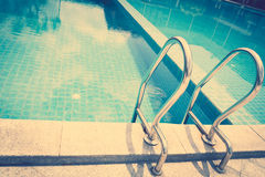 Swimming pool ( Filtered image processed vintage eff Royalty Free Stock Photos