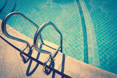 Swimming pool  ( Filtered image processed vintage eff Royalty Free Stock Image