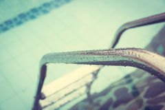 Swimming pool ( Filtered image processed vintage eff Royalty Free Stock Photography