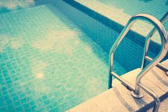 Swimming pool  ( Filtered image processed vintage effect Stock Photography