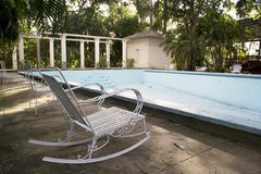 Swimming pool. The swimming pool at the Finca Vigia . Finca Vigia was the home of Hernest Hemingway in the suburb of the Havana, Cuba. Now the Finca Vigia is a stock photos