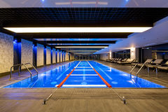 Swimming pool in fitness center Royalty Free Stock Photo