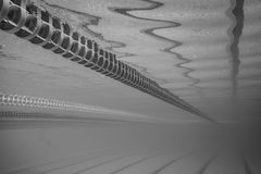 Swimming Pool Floating Wave-Breaking Lane Line Royalty Free Stock Image