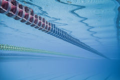 Swimming Pool Floating Wave-Breaking Lane Line Royalty Free Stock Images