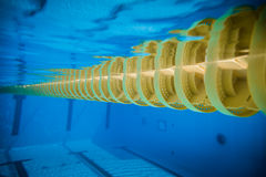 Swimming Pool Floating Wave-Breaking Lane Line Stock Photography