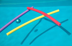 Swimming Pool with Floats royalty free stock photos