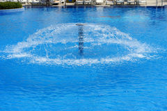 Swimming pool with fountain Royalty Free Stock Images