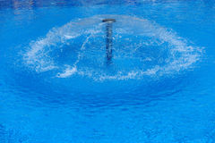 Swimming pool with fountain Royalty Free Stock Photos