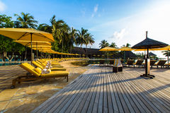 Swimming pool at Four Seasons Resort Maldives at Kuda Huraa Stock Photography