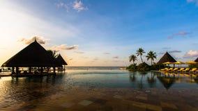 Swimming pool at Four Seasons Resort Maldives at Kuda Huraa Stock Images