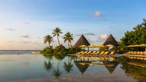 Swimming pool at Four Seasons Resort Maldives at Kuda Huraa Stock Photography