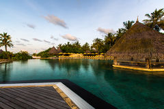 Swimming pool at Four Seasons Resort Maldives at Kuda Huraa Stock Image