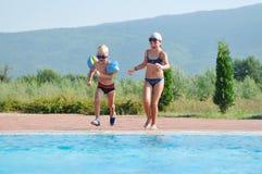 Swimming pool fun Stock Image
