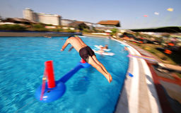 Swimming pool fun Stock Photography
