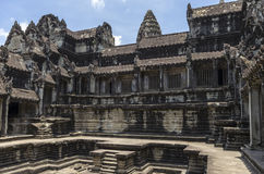 Swimming pool with the gallery at Angkor Wat Royalty Free Stock Image