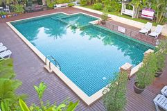 Swimming pool and garden Royalty Free Stock Image