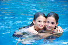 Swimming Pool Girls Royalty Free Stock Photography