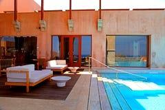 Swimming pool,Greece Stock Photos