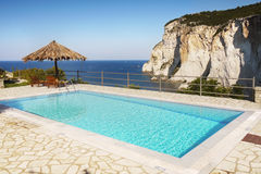 Swimming Pool, Greek Islands Coast Royalty Free Stock Photography