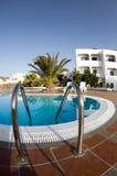 Swimming pool greek islands santorini Stock Photos