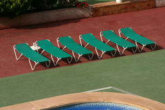 Swimming Pool Green Seats - 1 Royalty Free Stock Image